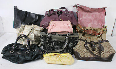 Lot of 10 Wholesale Mixed Designer Brands Coach Bags