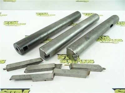 "Nice Lot Of 3 Precision Boring Bars 1-1/2"" Shanks Flynn +Hss & Carbide Bits"