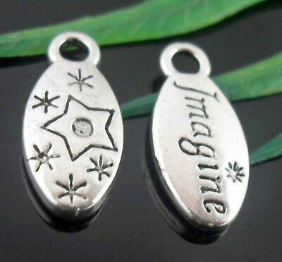 Free Ship 20Pcs Antique Silver Nice Charms Pendant 17x8mm (Lead-free)