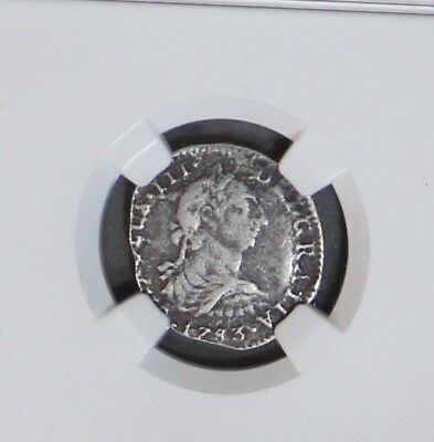 1783FF 1 Reales from Spanish Shipwreck El Cazador NGC Certified Genuine Rare One