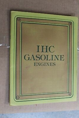 INTERNATIONAL HARVESTER Co. IHC GASOLINE ENGINES  CATALOG possible 1900'S ?