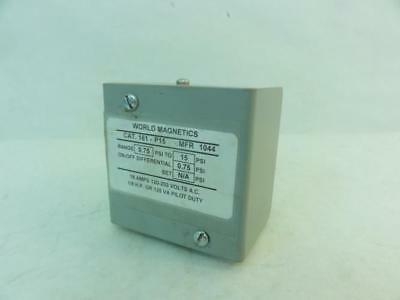 171135 Used, World Magnetics 161-P15 Low Pressure Switch, 15A, 120-250VAC