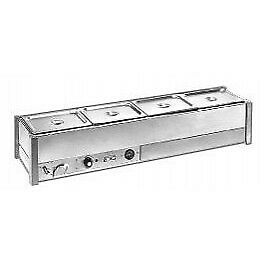 Roband Hot Bain Marie 4 X 1/2 Size, Pans Not Included, Single Row Bm14