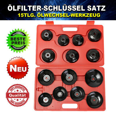 16 PCS Cup Type Oil Filter Cap Wrench Socket Removal Set Heavy Duty Tool
