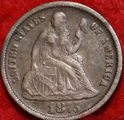 1875-CC Carson City Mint Silver Seated Liberty Dime