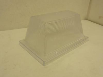 170027 Old-Stock, WF Harris 300-CP-LENS ONLY Fixture Lens Cover, Clear, Prism