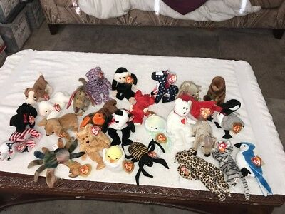 Ty Beanie Babies & Buddy's Lot Very Rare Retired 26 Beanie Baby Lot With Tags MT