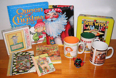 Mary Engelbreit Lot MUGS PUZZLE BOOKS BANNER +++
