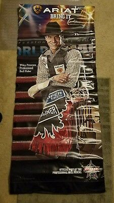 Large Color Ariat Cowboy Boots & Wrangler Advertising Sign Banner Pro Rodeo Tour
