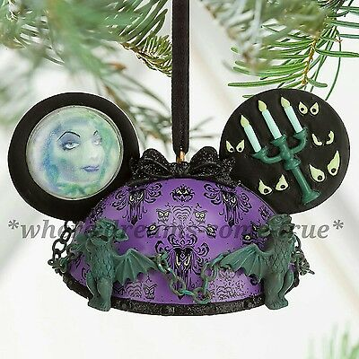 Disney Parks The Haunted Mansion Ear Hat Christmas Ornament BNWT