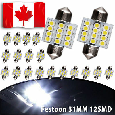 20 X CANBUS ERROR FREE White T10 8-SMD LED Interior Light Bulbs W5W 194 168
