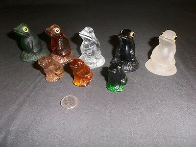 Glass frog paperweight lot Summit Co. collection hand pressed