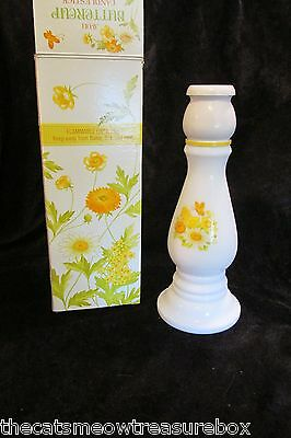 Avon Butter Cup Candlestick Decanter with Sonnet Cologne 6 fl oz 1970