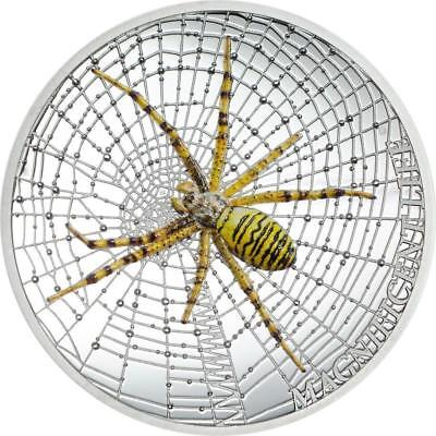 Cook Islands 2016 5 $ Magnificent Life Spider Silver 999 1 Oz Silver Coin