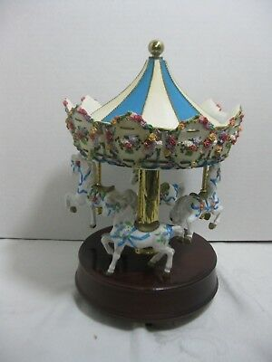 San Francisco Music Box CO. Spring Bouquet Carousel with 4 Horses LE 364/3500
