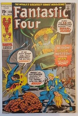 Fantastic Four (1St) #108 - Marvel Comics - Bronze Age - Pence - Fn+