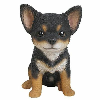 "Adorable Seated Chihuahua Puppy Collectible Figurine Amazing Dog Likeness 6.5""H"
