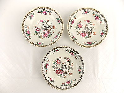 "F Winkle & Co Pheasant Whieldon Ware Saucers Bowls 4 7/8"" Lot of 3 #3061"