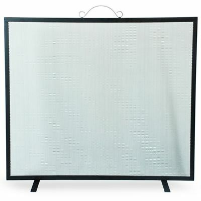 Simpa® Spark Guard 73cm x 76cm Single Panel Black Fireplace Screen