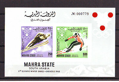 Ol. Spiele,Olympic Games,Aden (Mahra State),1967, Bl. 4B**