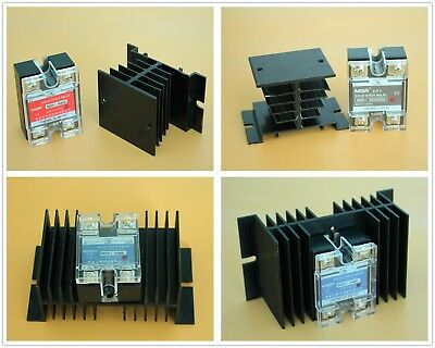 SSR DA DD AA Type Solid State Relay & Alloy Heat Sink 10A 25A 40A 50A 60A AC/DC