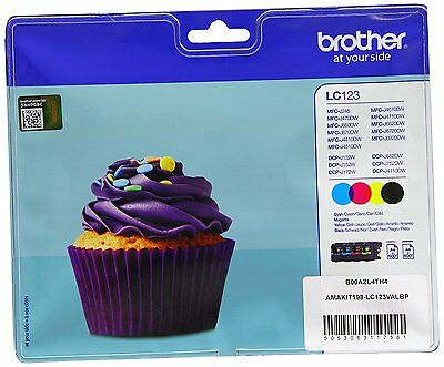 Brother Genuine LC123BK CMY 4 Ink Set for MFC-J6520DW MFC-J6720DW MFC-J6920DW