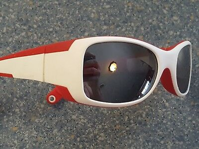 Julbo Booby Red White Sunglasses Rubber Made in France Spectrum 4 Baby Lens