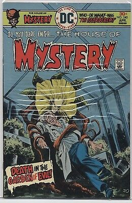 HOUSE of MYSTERY #240 DC Bronze Age Horror (1976) F/VF (7.0)