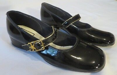 Vintage 70s Shoes Heels Mary Janes Dead Stock 6 1/2 B