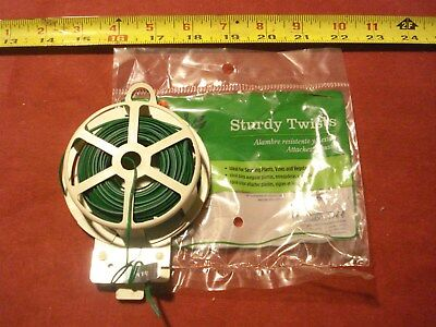 (1184.) Sturdy Twist Ties - Plastic Coated Steel Wire 100' - with Dispenser