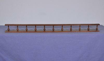 "46"" Antique Oak Pediment Architectural Crown Plate Rail Solid Wood Crest (K)"