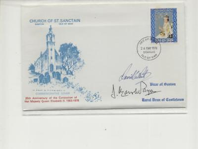 Isle of Man 1978 St Sanctian Cover FDC of Coronation, 2 Signatures