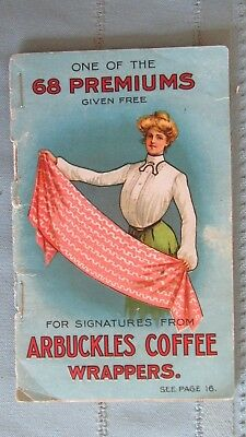 1890's Era Arbuckles Coffee Premium Colored Give Away Booklet-Guns-Corsets-Rings