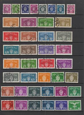 Norway Officals collection , 89 stamps.