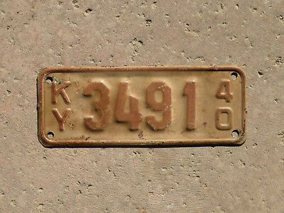 1940 Kentucky Motorcycle License Plate