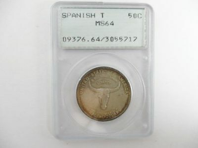 Half Dollar Old Spanish Trail OGH Rattler Coin 1935 PCGS MS 64