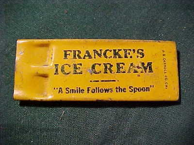 Old Tin Whistle Advertising Franke's Ice Cream, by J.P. Carroll Chicago