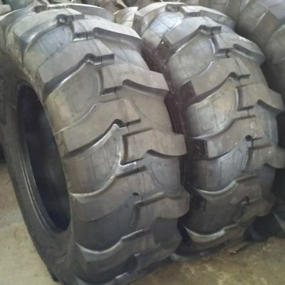 TWO 19.5L-24 Backhoe Tires R4 - 12 Ply - 19.5LX24 for Case, John Deere, CAT