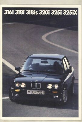1990 BMW 316i 318i 318is 320i 325i 325iX Sedan Coupe Brochure German wy9782