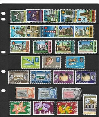 Barbados Small lot of QE MNH (See desc)