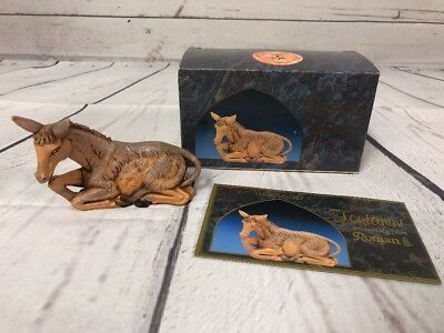 """Vintage 1992 Seated Donkey Fontanini 5"""" Collection with box"""