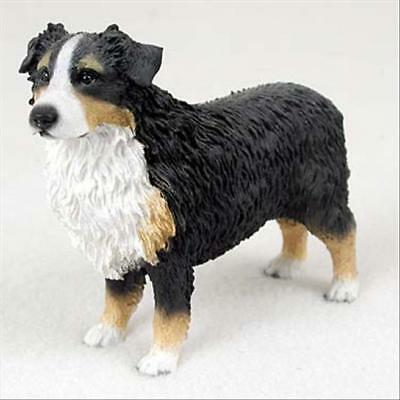 Australian Shepherd Tricolor Dog Hand Painted Collectable Figurine Statue