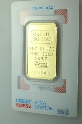 Credit Suisse One Ounce 999.9 Gold Ingot