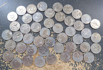 Luxembourg 1 Franc 1964, Dealer Lot of 47 Coins w/ Heavy & Uneven Toning