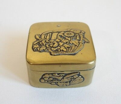 Fine antique Japanese Meiji period brass box