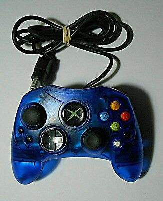 XBox Generic Controller Navy Blue w/ Cord 2 Memory Slots Made in China