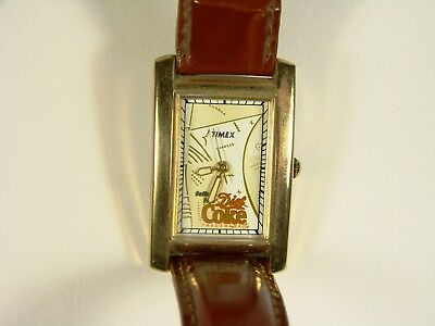 Unused Carriage By Timex Woman' Leather Band  Coca Cola Logo Watch