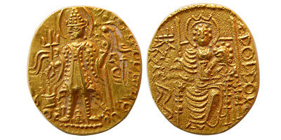 PCW-I1552-INDIA, KUSHAN EMPIRE. Vasudeva II. Circa 290-310 AD. Gold. Superb EF.