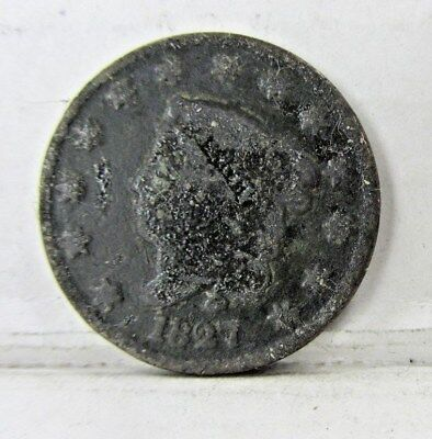 1827 Large Cent - Low Grade - Bbbin