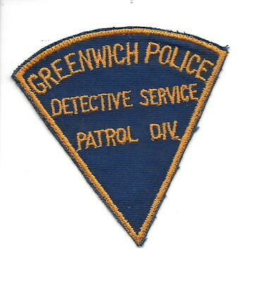 Greenwich Detective Service Patrol Div. Connecticut OLD police patch